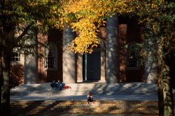 Harvard University of autumn, Cambridge, USA --- Image by © HIROYUKI MATSUMOTO/amanaimages/Corbis